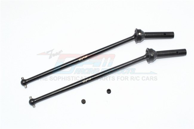 Traxxas TRX-4 Trail Defender Crawler Upgrade Parts Steel #45 Front CVD Shaft 2Pcs Set Black