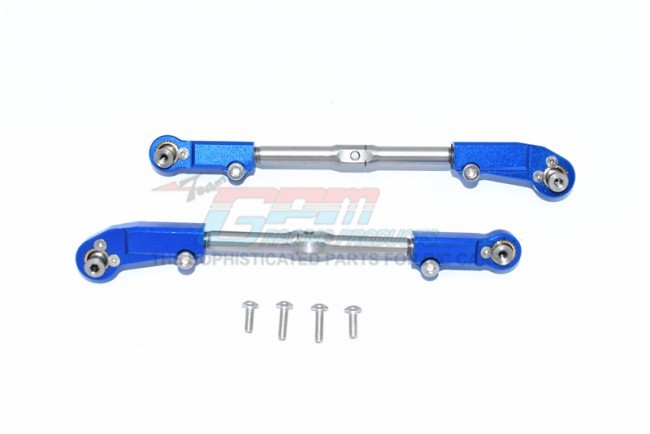 ARRMA KRATON 6S BLX Monster Truck Aluminum+Stainless Steel Adjustable Front Steering Tie Rod - 6pc set - GPM MAK162S