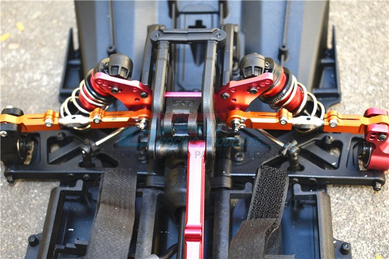 GPM Alum+Stainless Steel Rear Upper Arm Tie Rod Blue Kraton Outcast Notors