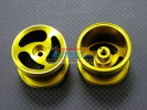 Associated RC 18T Alloy Front Standard Sinkage Swirl Surface Rims (3 Poles) - 1pr - GPM AR0305F