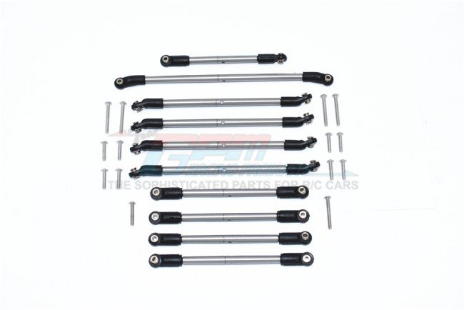 AXIAL Racing CAPRA 1.9 UNLIMITED Stainless Steel Adjustable Tie Rods - 24pc set - GPM CP160S