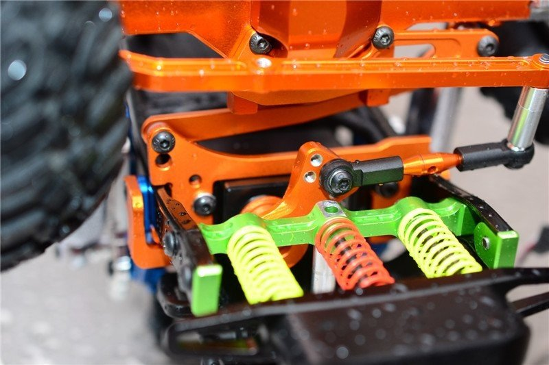 GPM Axial SCX10 Tuning Teile Aluminium Servo Mount with Panhard Bar 1 Set Blue