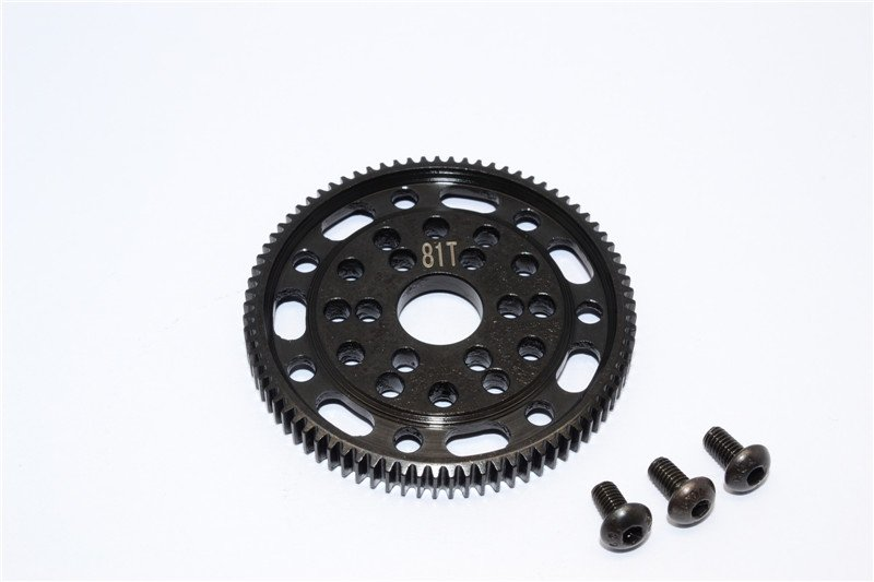Axial Racing SCX10 Steel#45 Spur Gear 48 Pitch 81T - 1pc set (For SCX10, Wraith) - GPM SSCX081T