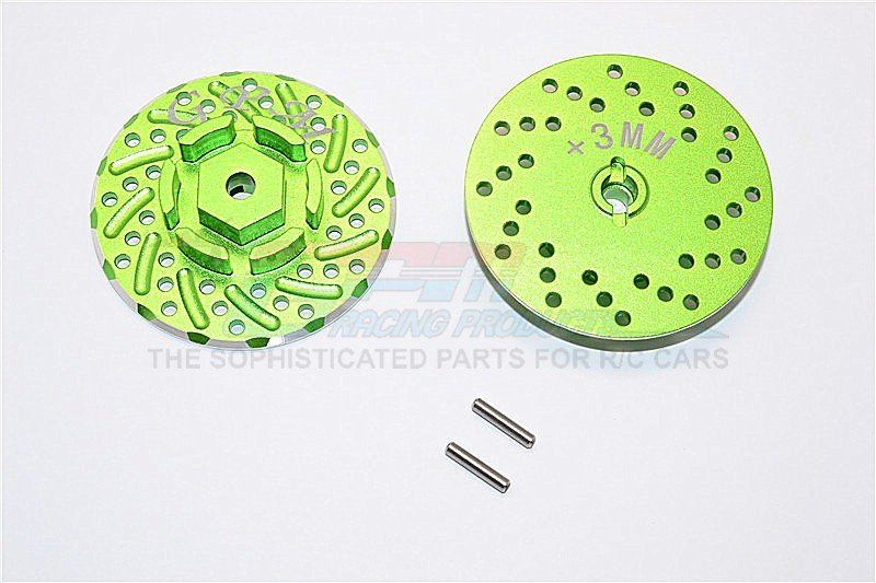 AXIAL Racing SCX10 II Aluminium Front/Rear Wheel Hex Claw +3mm With Brake Disk - 2pcs - GPM SCX2006/DISK