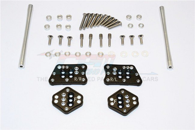 AXIAL Racing SCX10 II Aluminium Front & Rear Adjustable Mount For Original Shock Tower - 1set - GPM SCX2029FRO