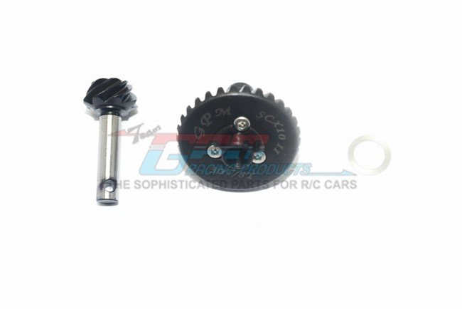 AXIAL Racing SCX10 II Harden Steel #45 Differential Bevel Gear 30T & Pinion Gear 8T - 3pc set - GPM SCX21200S