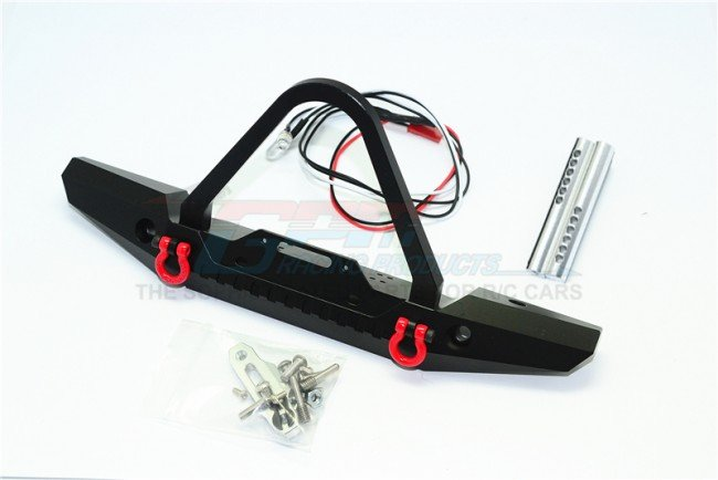 Aluminum Front Bumper With Led Lights For Crawlers (B) - 19pc set - GPM ZSP026