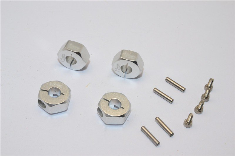 Axial Racing SCX10 Alloy Hex Adapter (12mmx7mm) - 4pcs set For Axial Racing EXO,Scx10,Wraith - GPM AX010/12X7MM