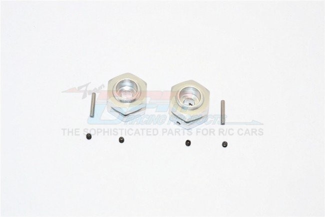 Aluminium Wheel Hex Adapter - 2pcs set 12mm Convert To 17mm 7mm Offset With 17mm Lock Nut Demo Car Install On Rear To Confirm - GPM ADT1707/2