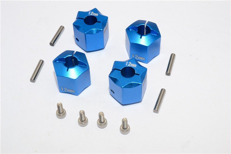 Aluminium Wheel Hex Adapter 12mmx12mm - 4pcs set - GPM HEX1212