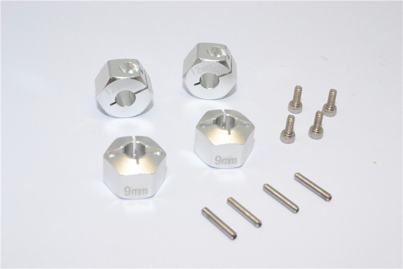 HPI Bullet 3.0 Mt And St (Nitro Engines) Alloy Hex Adapter 12mm Diameter With 9mm Thickness-4pcs set For GPM Optional EXO Wheels Ex0503fr & Ex1003fr - GPM BMT010/12X9
