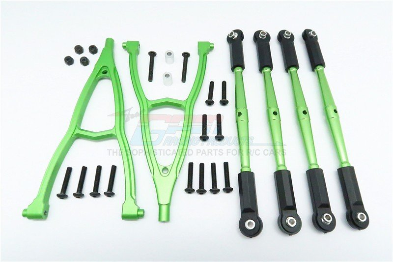 HPI Crawler King Aluminium Front+Rear Y Plate & Link Parts (For 310mm Wheelbase) - 6pcs set - GPM CK15049FR310