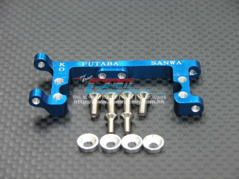 Kyosho Mini Inferno ST Alloy Servo Mount With Screws & Shims (For KO Propo , Futaba, Sanwa) - 1pc set - GPM MIF024KO/F/S