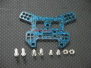Kyosho Mini Inferno /Mini Inferno 09 Graphite Rear Damper Plate With Screws & Lock Nuts - 1pc set Blue Graphite - GPM GMIF030B