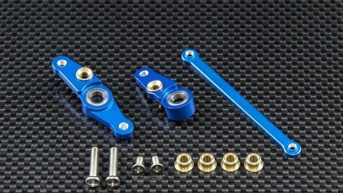 Tamiya DF01 Steering Assembly With Bearings - 1set - GPM DF1048