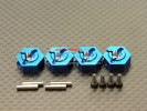 Tamiya TT01 Alloy Wheel Hex Drive Adaptor With Pins & Screws - GPM TT010