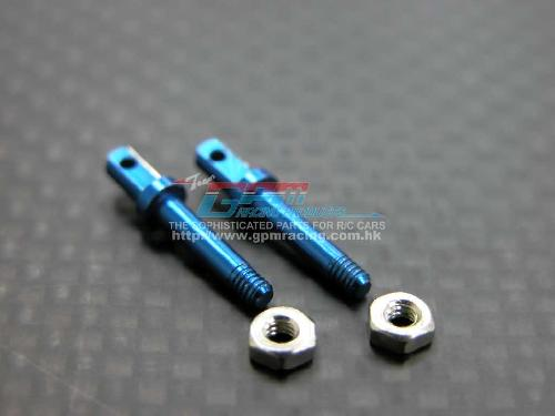 Team Losi Micro T Alloy Front Wheel Shaft With Shims - 1pr set - GPM TM039F