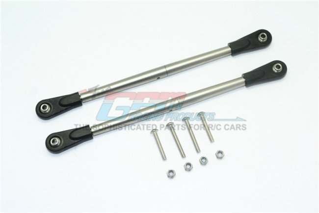 Team Losi SUPER BAJA Stainless Steel Adjustable Rear Upper Chassis Link Tie Rods - 10pc set - GPM SB014S