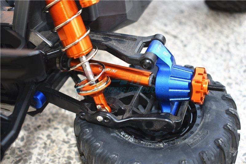 2pcs Hard Steel Splined CVD Driveshaft Axles for Traxxas 1//10 MAXX 8950