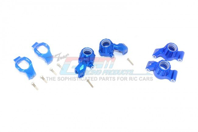 TRAXXAS MAXX MONSTER TRUCK Aluminum Front C-Hubs, Front+Rear Knuckle Arms - 12pc set - GPM TXMS192122