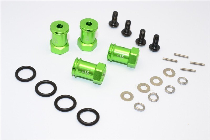 TRAXXAS 1:16 Mini E-REVOalloy Hex Adaptor (+15mm) - 4pcs set - GPM ERV010/+15MM
