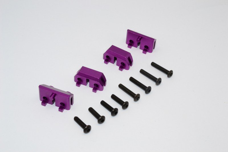TRAXXAS Revo /Revo 3.3 Alloy Front& Rear Completed Servo Mount With Screws - 2prs set - GPM TRV024