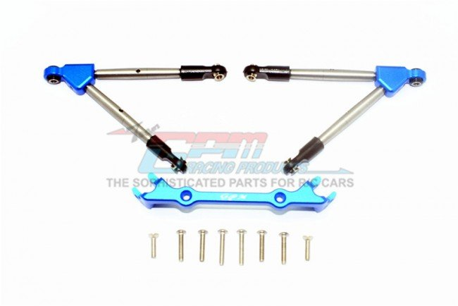TRAXXAS RUSTLER VXL Aluminum Front Tie Rods With Stabilizer For C Hub - 11pc set - GPM RUS4049F