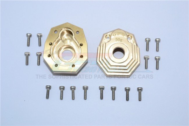 TRAXXAS TRX4 TRAIL CRAWLER Brass Outer Portal Drive Housing (Front Or Rear)'heavy Edition'-18pc set - GPM TRX4021X