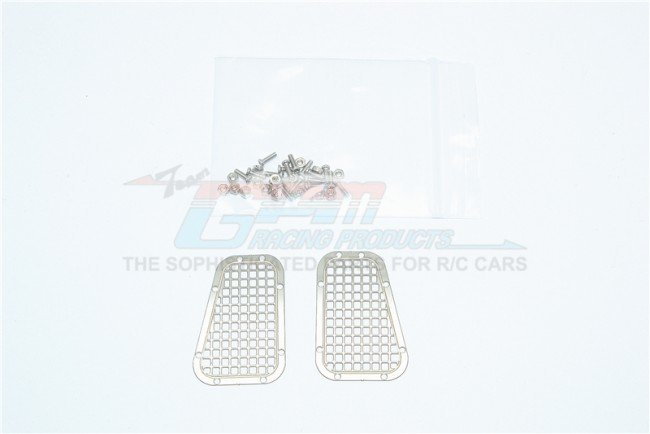 TRAXXAS TRX4 TRAIL CRAWLER Stainless Steel Fender Vent (Grid Pattern) - 34pc set - GPM TRX4ZSP11A