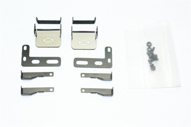 TRAXXAS TRX4 TRAIL CRAWLER Stainless Steel Side Step For Trx-4 Defender - 18pc set - GPM TRX4ZSP31