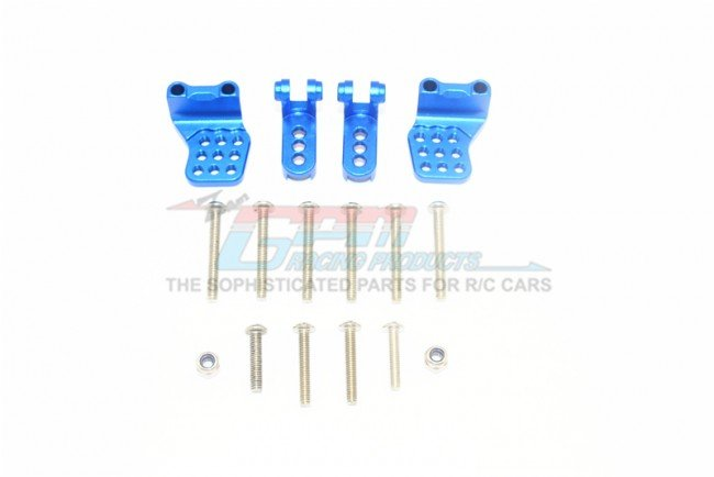 TRAXXAS TRX4 FORD BRONCO Aluminum Adjustable F+R Damper Mount (Multiple Positioning Holes) - 16pc set - GPM TRX4029FRBZ