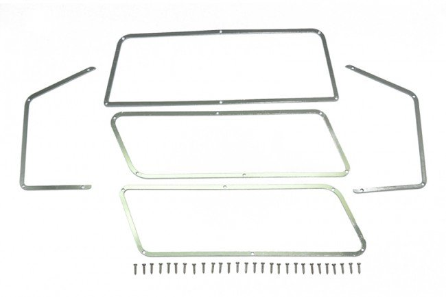 TRAXXAS TRX4 FORD BRONCO Stainless Steel Window Frame For TRX-4 Ford Bronco  - 33pc set - GPM TRX4ZSP40