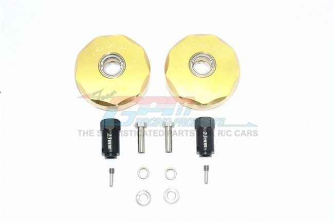 TRAXXAS TRX4 MERCEDES-BENZ Brass Pendulum Wheel Knuckle AXLE Weight+23mm Hex  - 12pc set - GPM TRX4023XBZ