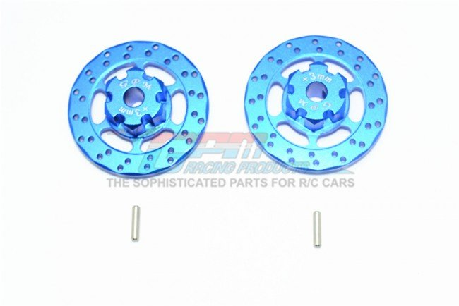 TRAXXAS UNLIMITED DESERT RACER Aluminum +3mm Hex With Brake Disk - 4pc set - GPM UDR010D+3MM